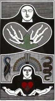 gilvan samico , O peso do mundo é o amor. Artigo de Ferreira Goulart fala de Samico  , cuja  obra remete às cartas de baralho(como nasceu a xilogravura)