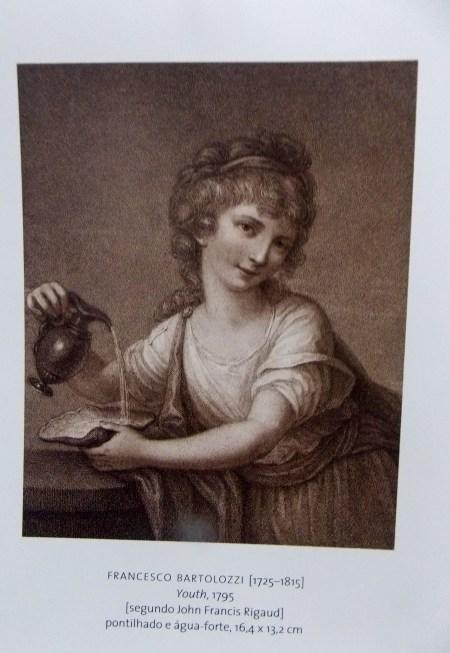 Mestres da Gravura, B. Nacional, Biblioteca Mário VII-073.302 Too1m (3). FRANCISCO BARTOLOZZI(1525-1815). Youth, pontilhado e água-forte, 16,4 X 13,2cm