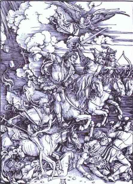 Dürer: Os 4 cavaleiros do apocalpipse.