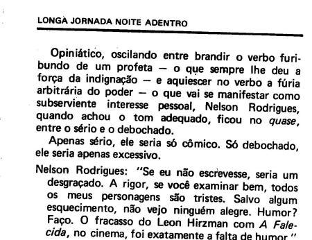 estética do QUASE, conforme os autores. p. 62; Nelson Rodrigues, Flor de Obsessão, de Carlos Vogt e Berta Waldman