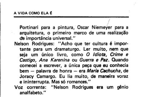 Frases sobre Nelson Rodrigues pags. 7 e 8
