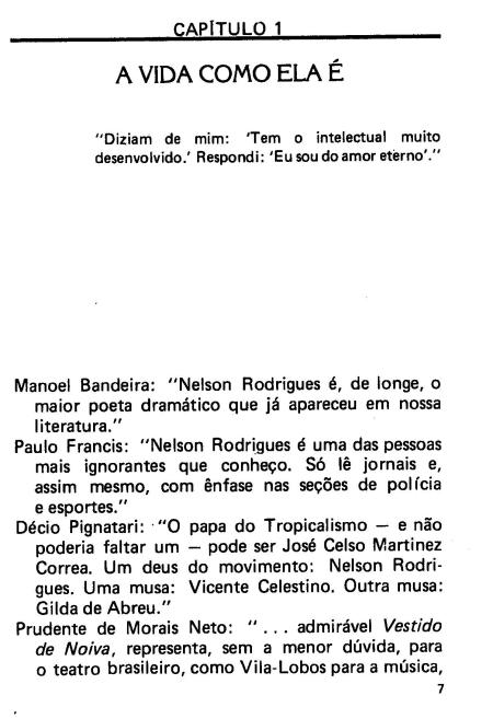 frases sobre Nelson Rodrigues