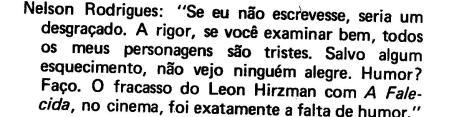 Sobre filme de Leon Hirzman, A Falecida. p. 62