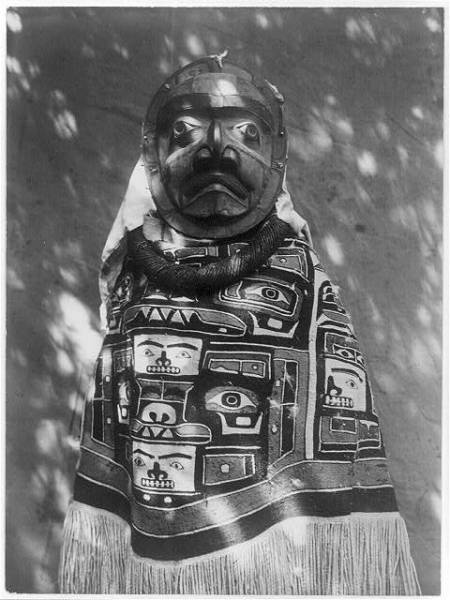 http://www.loc.gov/pictures/resource/cph.3b00195/?co=ecur.  A Tluwulahu costume--Qagyuhl, c1914 November 13,  Curtis, Edward S.