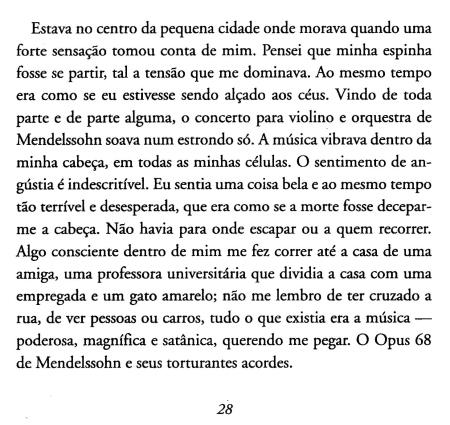 Dentro da Chuva Amarela, Mendelssohn op.68