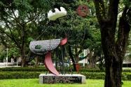 MONUMENTO A FEDERICO GARCIA LORCA - Inaugurada em 1968. Restaurado e devolvido à Praça das Guianas-SP.(segundo página da Veja, em 10 de janeiro, terça-feira, 2012
