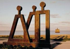 El Parque de la Memoria-Monumento a las Víctimas del Terrorismo de Estado.