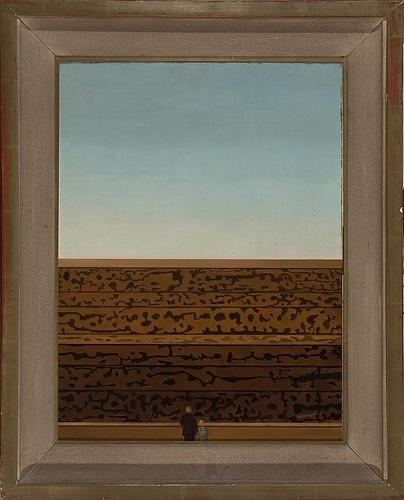 Padre e hijo contemplando la sombra de un día, de Roberto Aizenberg - 1