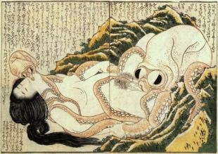The Dream of the Fisherman's Wife (1814) by Katsushika Hokusai.
