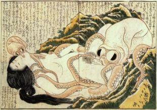 The Dream of the Fisherman's Wife (1814) by Katsushika Hokusai.