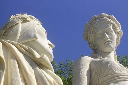 Dante and Beatrice by Giovan Battista Comolli Milan (detalhe)