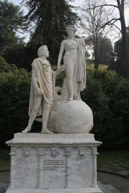 Dante and Beatrice by Giovan Battista Comolli Milan